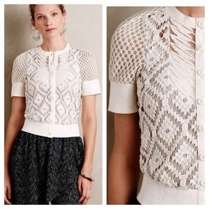 Anthropologie Annette Lace Cardigan by Byron Lars